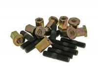 Kit goujons -M8x30mm- (pour pot d'échappement/cylindre) - 10 unités