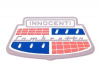 Sticker -LAMBRETTA Innocenti horncast 80x40mm-