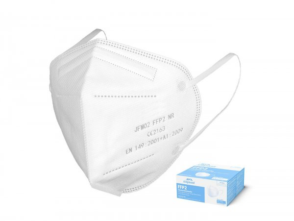 Mask, dust protection mask -JIFA FFP2, 20 pieces, individually packed- white, respirator with CE-marking