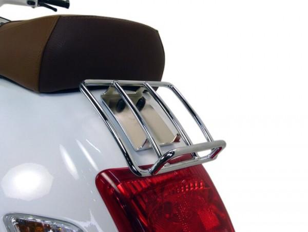 Gepäckträger hinten -MOTO NOSTRA, Sprint Rack- Vespa GT, GTL, GTV (-2014), GTS (-2014), GTS Super (-2014), GT60 - 125-200-250-300cc - chrom