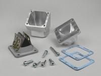 Intake manifold kit incl. reed valve block -MMW- Piaggio 2-stroke Maxi - CS=36mm, for carb Ø=28mm