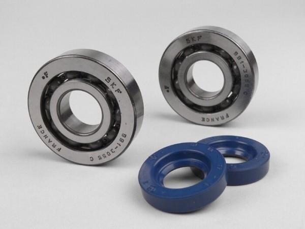 Kit rodamientos y retenes para cigüeñal -CALIDAD OEM- Vespa Wideframe V1T, V15T, V30T, V33T