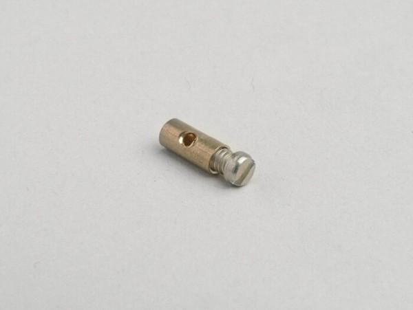 Klemmnippel / Schraubnippel -UNIVERSAL- Ø=4,0mm x 9mm (verwendet für Gaszug)