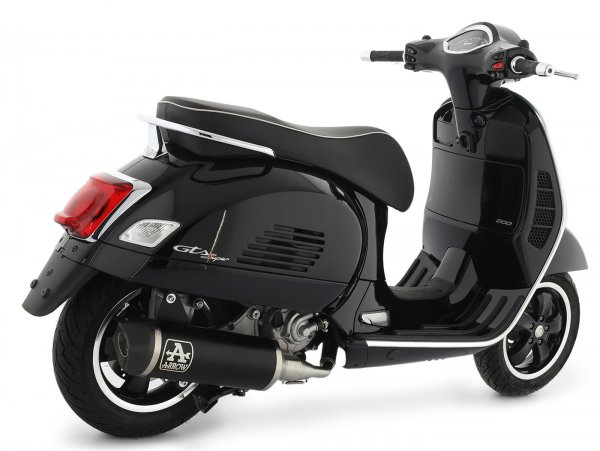 Escape -ARROW- Urban Dark Aluminium- Vespa GTS Super HPE 300 (Euro 5, ZAPMD3100, ZAPMD3101, ZAPMD3101) - con un convertidor catalític