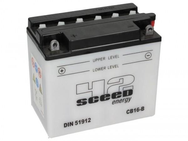 Batterie -Standard SCEED 42 Energy- CB16B - 12V, 19Ah - 176x101x156mm (inkl. Säurepack)