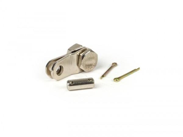 Pletinas sujeción cable de freno trasero -CALIDAD OEM- Vespa Wideframe - V98, V1, V11, V12, V13, V14, V15, V30, V31, V32, V33