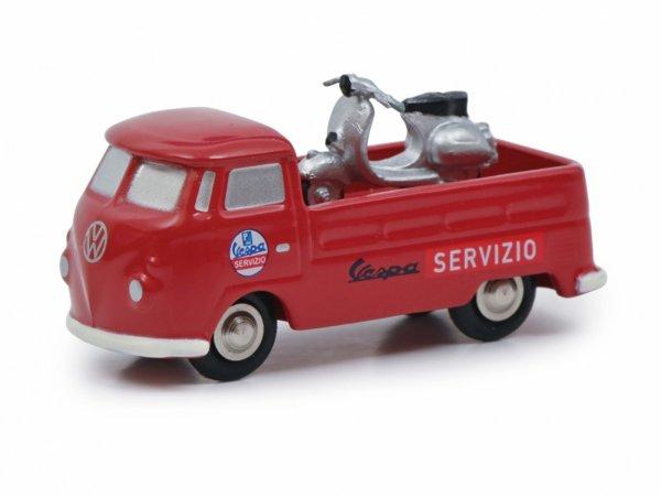 """Modell -SCHUCO 1:90- VW T1 """"Vespa Servizio"""""""