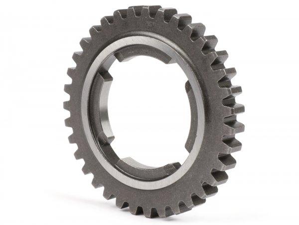 4th gear cog -OEM QUALITY- Vespa PX Lusso/EFL 125 ccm, T5 125ccm, Cosa 125, LML Star/Stella 125 2-Takt - 36 teeth - fits also (short fourth gear) PX Lusso/EFL 150 ccm, 200ccm, Cosa 200