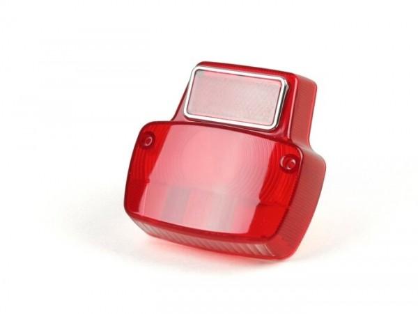 Rücklichtglas -BGM ORIGINAL Vespa Antik- Metall klein - Rot