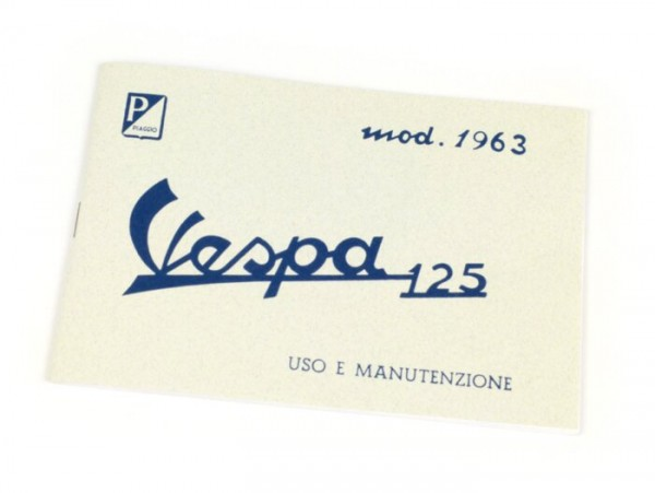 Owner's manual -VESPA- Vespa 125 (1963)