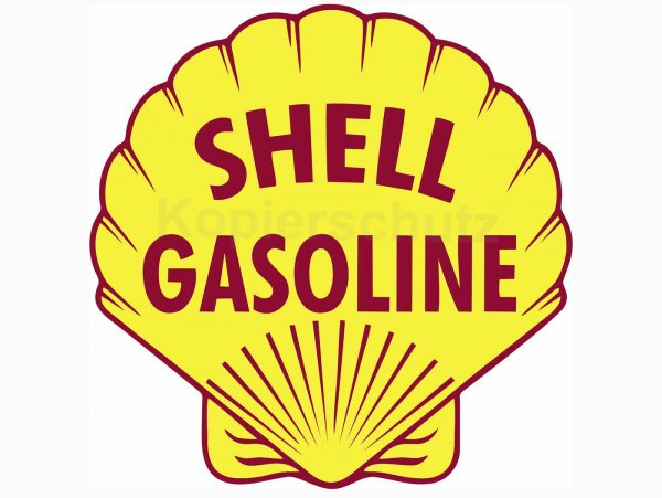 "Aufkleber -100 x 100mm- ""Shell Gasoline"""