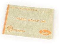 Owner's manual -VESPA- Vespa Rally 200