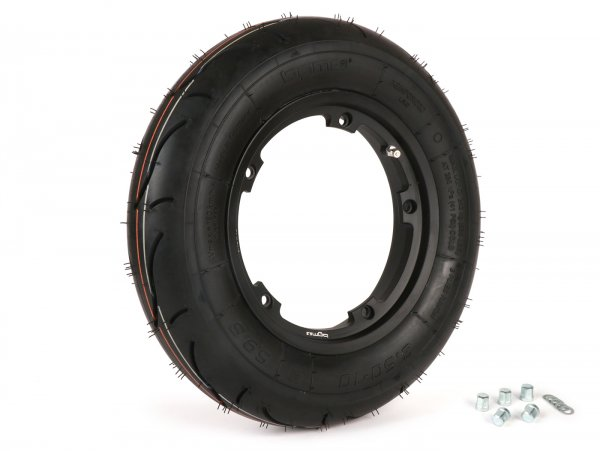 Wheel -BGM Sport, tubeless, Vespa- 3.50 - 10 inch TL 59S (reinforced) - wheel rim 2.10-10 black