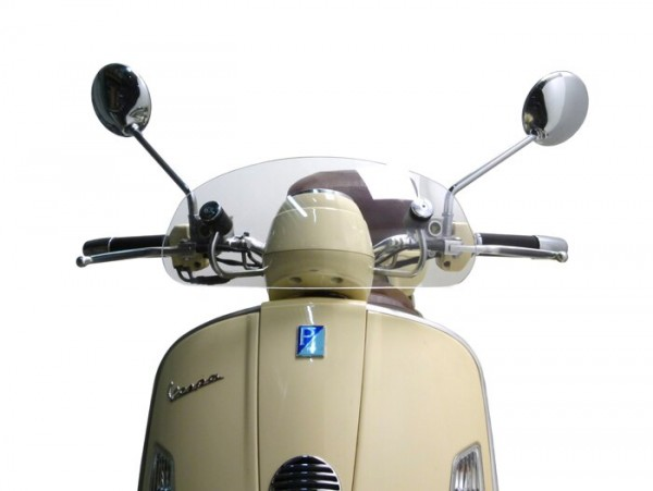Windschutzscheibe -MOTO NOSTRA, b=435mm, h=195mm- Vespa GTV, GT 60 - transparent farblos