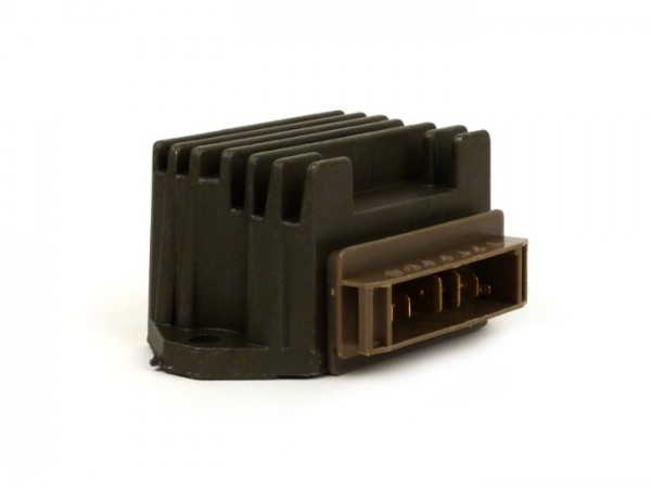 Regulador de tensión -7-Pin- Gilera Runner FX-FXR (ZAPM07, ZAPM08), Piaggio Hexagon (EXS1T, EXV1T), Hexagon LX-LXT (ZAPM05, ZAPM06), SKR (CSM1T, CVM1T), Skipper (ZAPM12, ZAPM13), TPH (ZAPM02)
