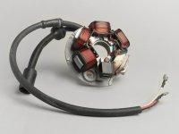 Zündung -PIAGGIO Grundplatte- Vespa PK XL, Ape 50 - 5-Spulen, 6-Kabel (Rundstecker mit 3-Pin) - für Fahrzeuge ohne Batterie
