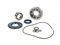 Bearing and oil seal set for crankshaft -BGM ORIGINAL- Vespa PX - rubber type - incl. O-rings