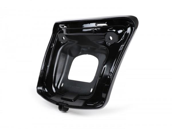 Rücklichtrahmen zur Umrüstung -MOTO NOSTRA für Montage alter Rücklichttyp bis Bj.2014 auf Fahrzeugen ab Bj.2014- Vespa GTS 125-300, GTS 125-300 Super (2014-, Facelift) - schwarz glänzend