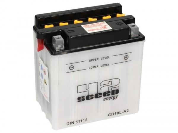 Batterie -Standard SCEED 42 Energy- CB10L-A2 - 12V, 11Ah - 146x91x136mm (inkl. Säurepack)