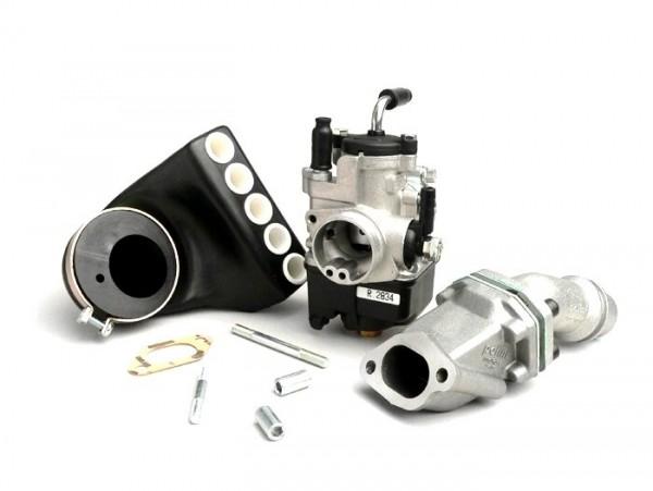 Carburator kit -POLINI 2-stud, 24mm Dellorto PHBL, reed valve- Vespa V50, PV, ET3