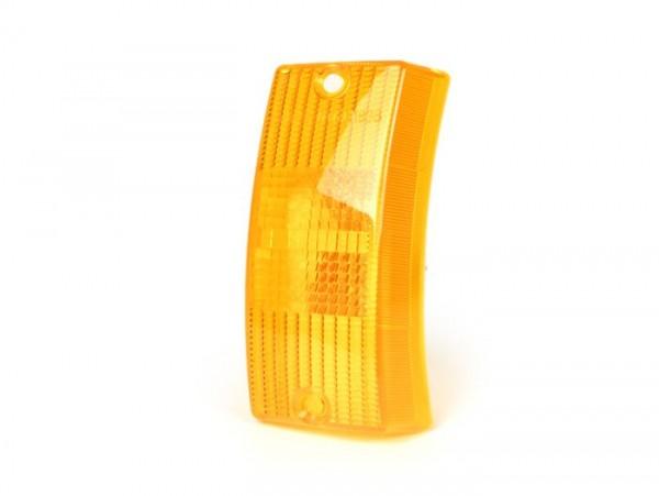 Blinkerglas -SIEM- Vespa PX80, PX125, PX150, PX200, T5 125cc vorne links - Orange