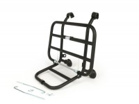 Front rack, fold down -FA ITALIA short distance from the legshield- Vespa PX80, PX125, PX150, PX200, T5 125cc - chrome