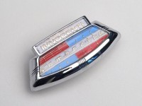Badge horn cover -LAMBRETTA- Innocenti emblem - LI (till 1967), LIS (till 1967), SX (till 1967)