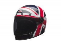 Casco -BELL Bullitt Carbon Spitfire Blue/Red- casco integral, azul/rojo - XL (60-61 cm)