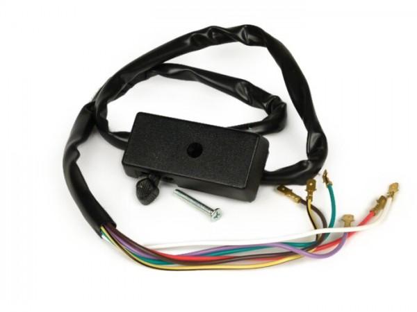 Blinkerschalter -VESPA- PX80, PX125, PX150, PX200 (Bj. 1978-1983) - 6 Kabel (12V Modelle ohne Batterie)