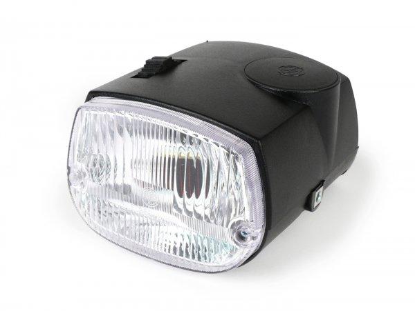 Headlights incl. housing -CIF- Piaggio Ciao P, Ciao PV, Ciao PX - black