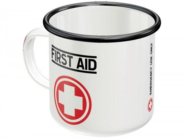 """Tasse - Emaille-Becher -Nostalgic Art- """"First Aid"""", Ø=8cm x 8cm, 360ml"""