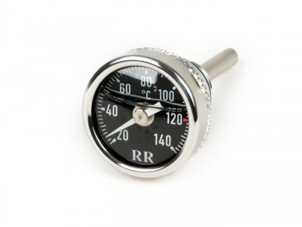Sensor indicador de temperatura aceite -RR- Piaggio LEADER / QUASAR 125-300cc de 4 tiempos - Vespa ET4, LX, LXV, S, GT, GTS, GTV, GTL - esfera negra