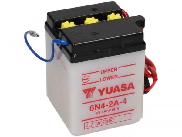 Batterie -Standard YUASA 6N4-2A-4- 6V, 4Ah - 71x71x95mm (ohne Säure)