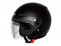 Helm -SHIRO SH62 GS, Jet-Helm- schwarz -
