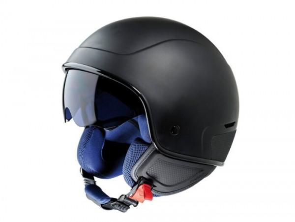 Helm -VESPA PJ1- Jethelm, schwarz matt - S (55-56cm)