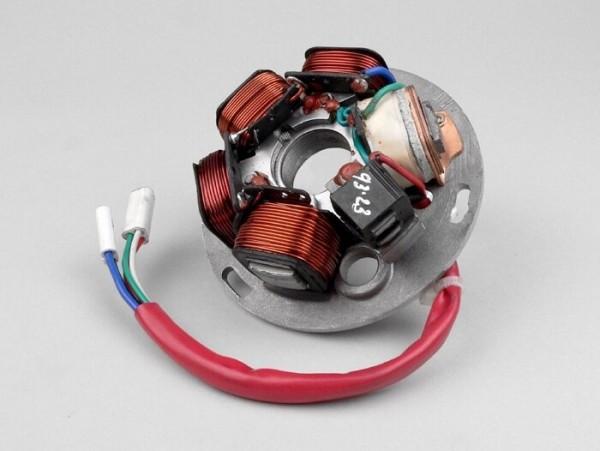 Encendido -soporte bobinas completo LML- LML Star 2, Star Deluxe, Via Toscana, Stella (5 cables)