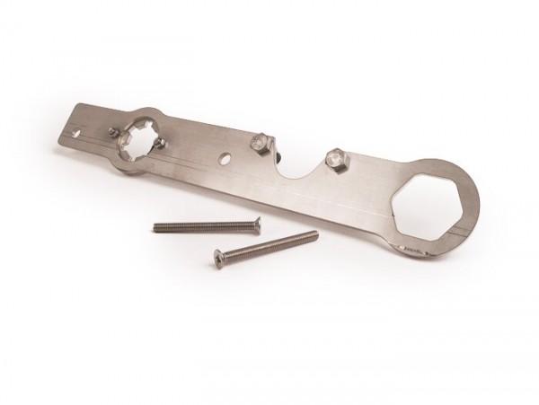 Halter vordere Riemenscheibe + Kupplungshalter -39mm 2Pin- CPI 50 ccm, Keeway 50 ccm, Generic 50 ccm