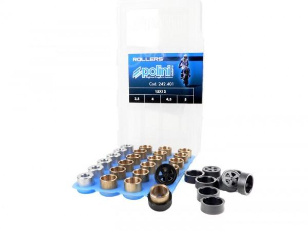 Gewichteset -POLINI Premium Qualität 15x12mm- 3,5-4,0-4,5-5,0g
