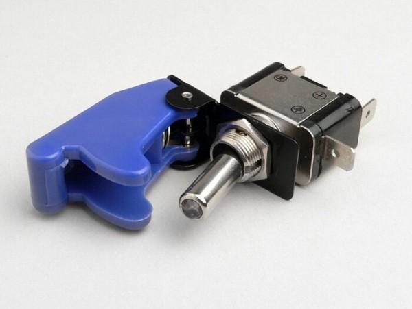 Interruptor con mando basculante -RACING paro de emergencia- azul