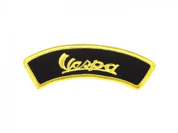 Patch thermocollant -VESPA (vintage)- noir/jaune - épaule - 100x35mm