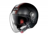 Helmet -NOLAN, N21 Visor Joie de Vivre- open face helmet, matt black - red - XXL (63cm)