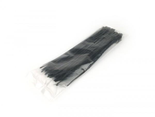 Kabelbinder -ETT 100 Stück - schwarz - 4,8mm x 300mm