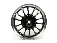 Cerchio ruota posteriore -PIAGGIO 3.00-12 pollici, Ø tamburo freno = 110mm - 14 razze- Vespa Sprint 50 (ZAPC53201) - nero/bordo argento