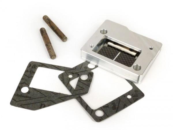 Colector de admisión - para caja de láminas -LTH- Vespa VNA,VNB, VBB, VBC, GT, GTR, Sprint, Rally, PX, Cosa - caja de láminas por debajo del carburador SI