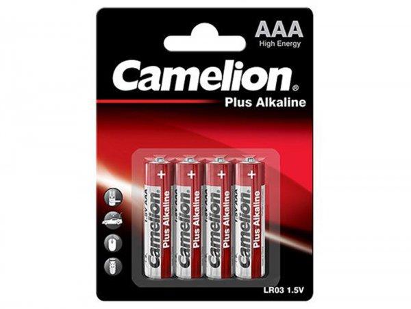 Pila Micro -CAMELION Plus Alkaline, AAA, LR03, 1.5 V - 4 unidades