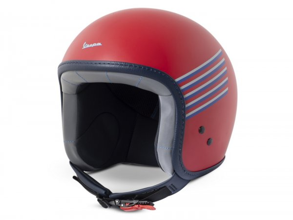 Helmet -VESPA  open face helmet Graphic- red-  L (59-60cm)