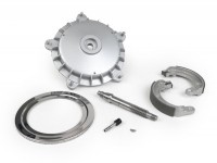 Brake drum conversion kit from 8 to 10 inch (front) -OEM QUALITY- Vespa Wideframe V1, V15, V30, V33, VU, VM, VN, VNA , Hoffmann, VNB, ACMA, Super, VL150, VB150, VBA150, VBB150, P150S