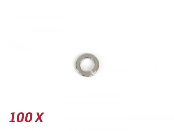 Arandela de presión tipo Grower -DIN 127 acero inoxidable- 100 unidades - M8