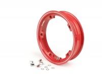 Wheel rim -FA ITALIA tubeless 2.10-10 inch, aluminium-  Vespa (type PX) - Vespa Smallframe V50, 50N, Special, PV, ET3, PK50-125 (S/XL/XL2), Largeframe PX, T5, Sprint, Rally, GT/GTR, LML Star, Deluxe - red