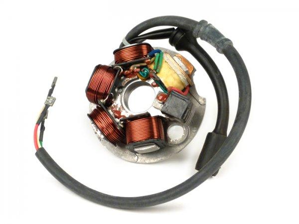 Encendido -OEM QUALITÄT placa de base- Vespa PK XL, Ape 50 - encendido con 5 bobinas, 6 cables (enchufe redondo con 3 clavijas) - para vehículos sin batería
